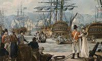 Gibraltar - 1802 - Jahleel Brenton - Battle of Algeciras. Source: http://gibraltarrock.blogspot.co.uk/
