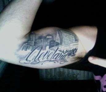 Cleveland skyline tattoo tattoos pinterest skyline for Cleveland skyline tattoo