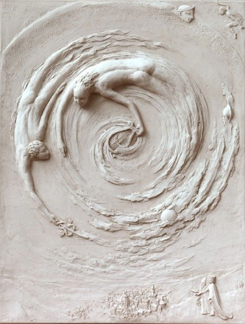 Ficino relief sculpture by tanya russell art