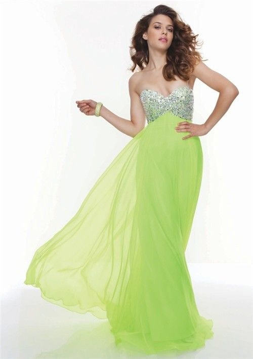 Images of Light Green Prom Dress - Reikian