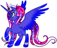 Cosmos Alicorn Princes by YukiAdoptablesPonies