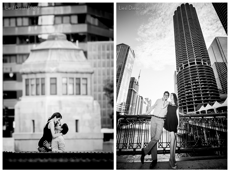affordable wedding photographers in los angeles%0A wacker bridge downtown chicago black and white engagement portrait  liesldieselphoto los angeles fashion lifestyle wedding photographer