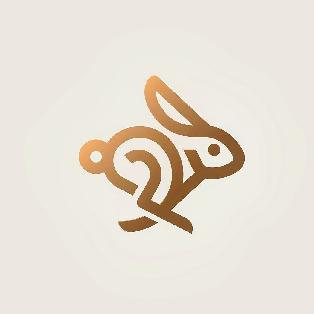 rabbit logo design concept we offer professional unique and rh pinterest com