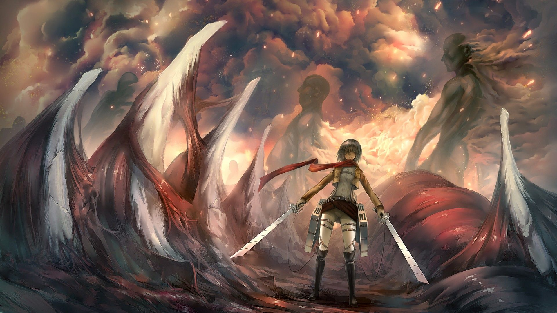 164 Attack On Titan Hd Wallpapers Backgrounds Wallpaper Abyss