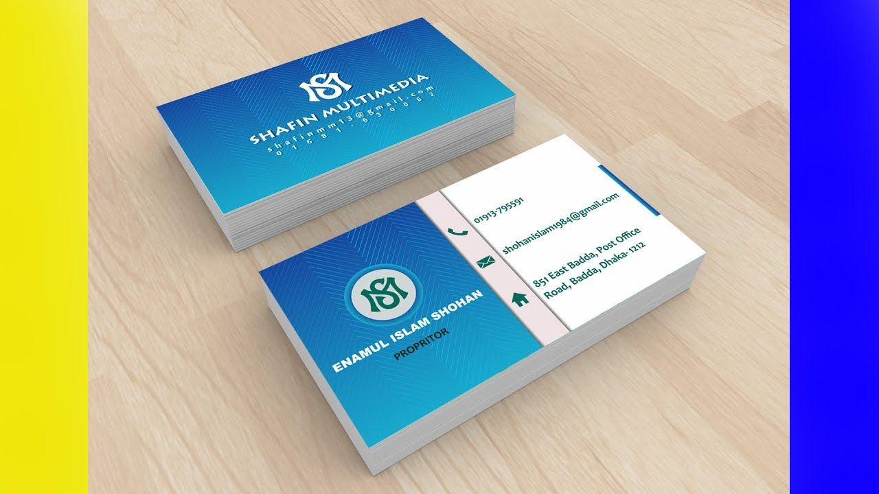 Download How to create a business card mockup in Photoshop ... Free Mockups