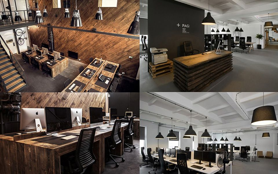Image result for industrial interior design office