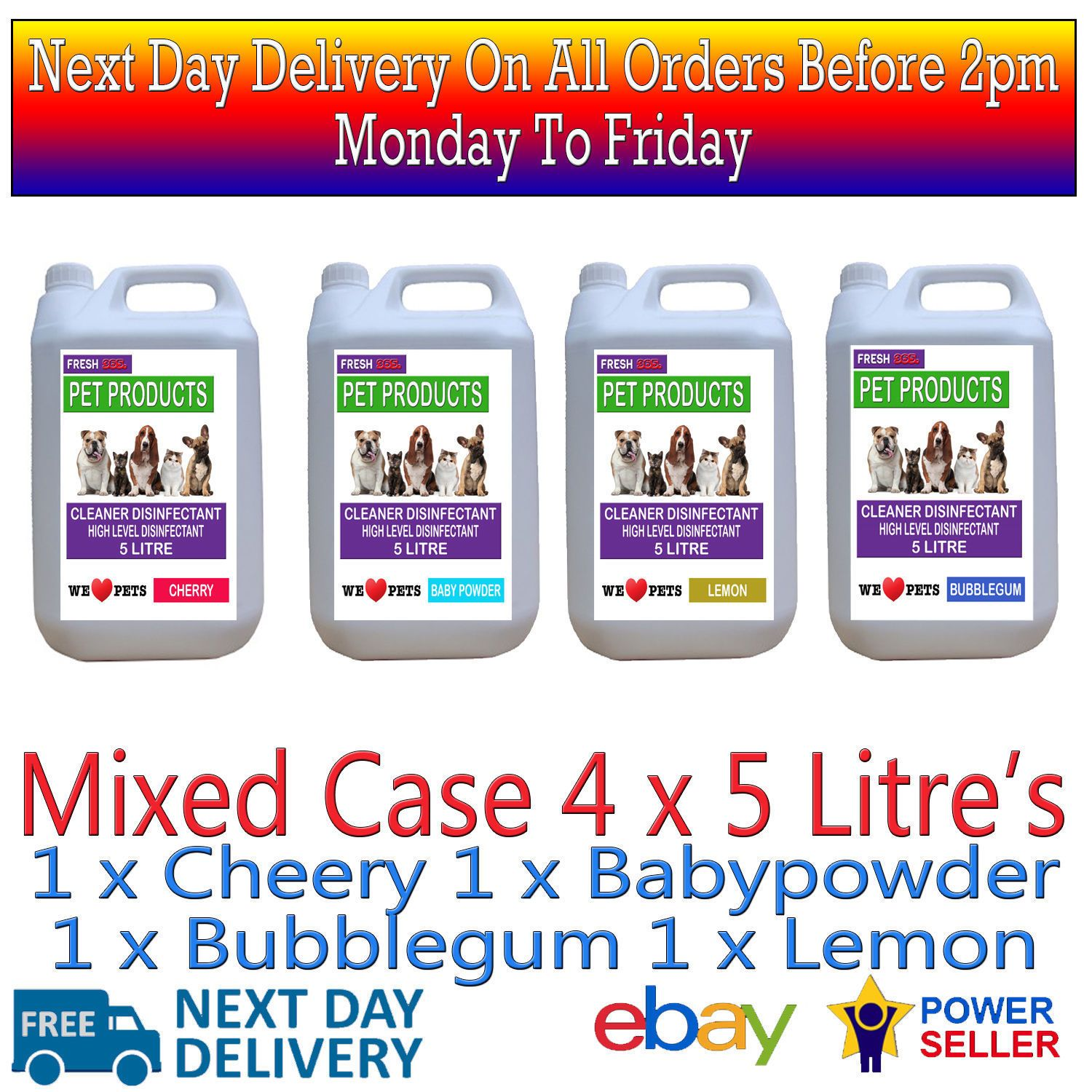 20 L Top Grade Stable Kennel Cattery Cleaner Disinfectant Mixed Fragrances Pet Friendly Cleaners Fragrance Pet Friendly