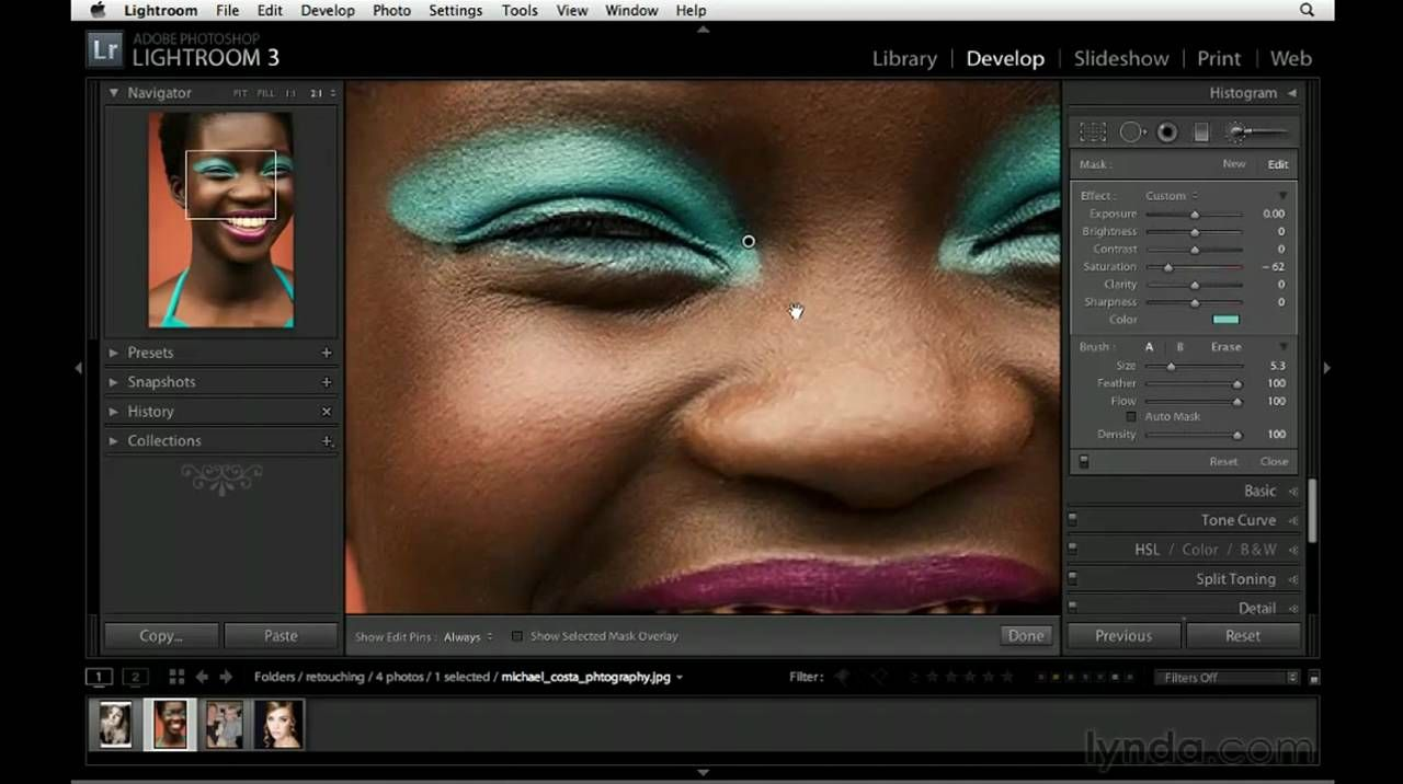 How to use the Adjustment Brush in Lightroom | lynda.com ...