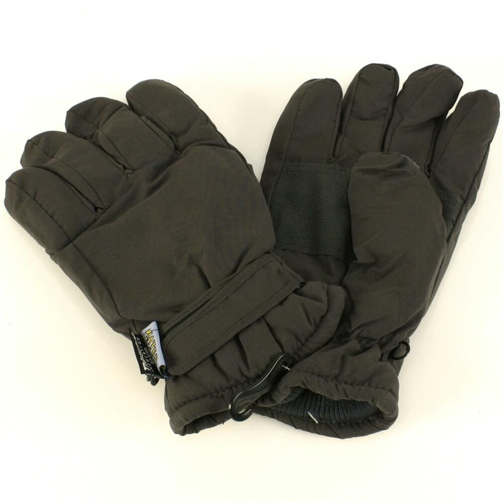 MEN/'S 3M THERMAL EXTRA WARM GLOVES Thermal Wool Lined Gloves BLACK ONE SIZE