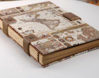 carnet de voyage format a6 cadeau homme reliure copte journal de voyage pour lui carnet de. Black Bedroom Furniture Sets. Home Design Ideas