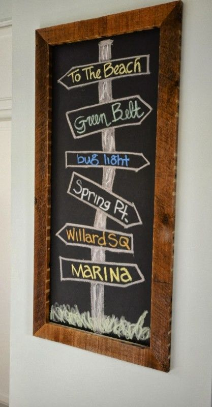 reclaimed wood chalkboard frame, SoPo Cottage featured on Remodelaholic