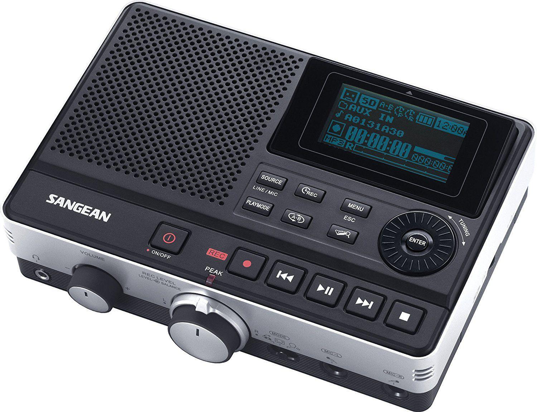 Amazon Com Sangean Dar 101 Desk Top Mp3 Recorder Black Electronics Voice Recorders Voice Recorder Digital