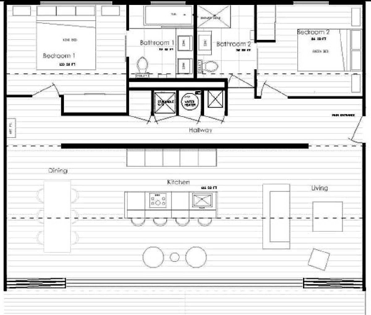 Elegant Container Home Floor Plan | IQ Hause | Christopher Bord | Archinect