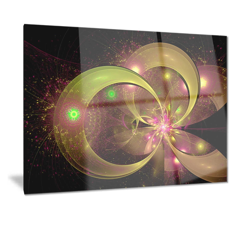 Designart 'Symmetrical Fractal Flower' Digital Art Floral Metal Wall Art