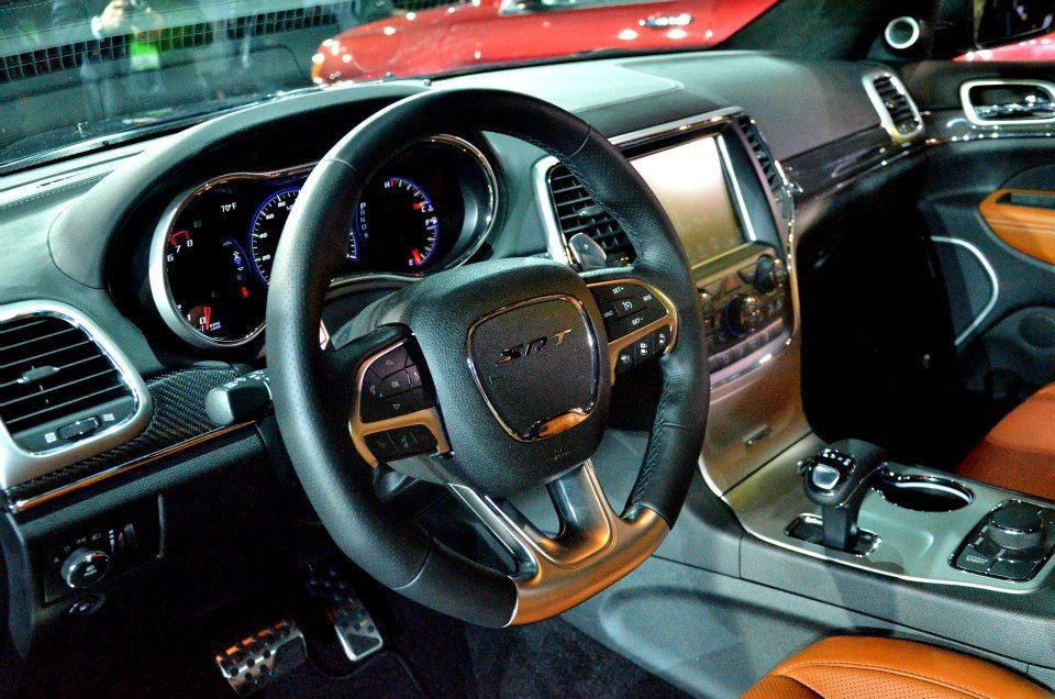 The interior of the 2014 Jeep Grand Cherokee SRT