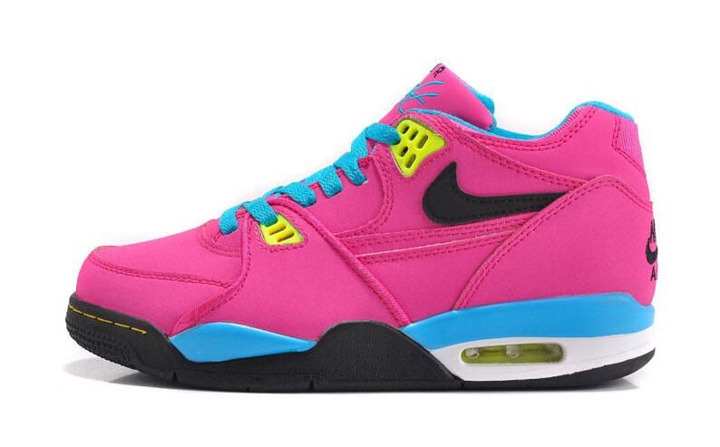 Shoes Online - Buy Shoes, Sneakers, Footwear for Men, Women, Kids 2016  Latest Nike Air Flight 89 Pink Sky Blue Yellow Black Suede Womens Shoes  Online Oulter ...