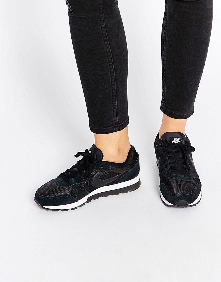 Nike MD Runner 2 Black \u0026 White Trainers