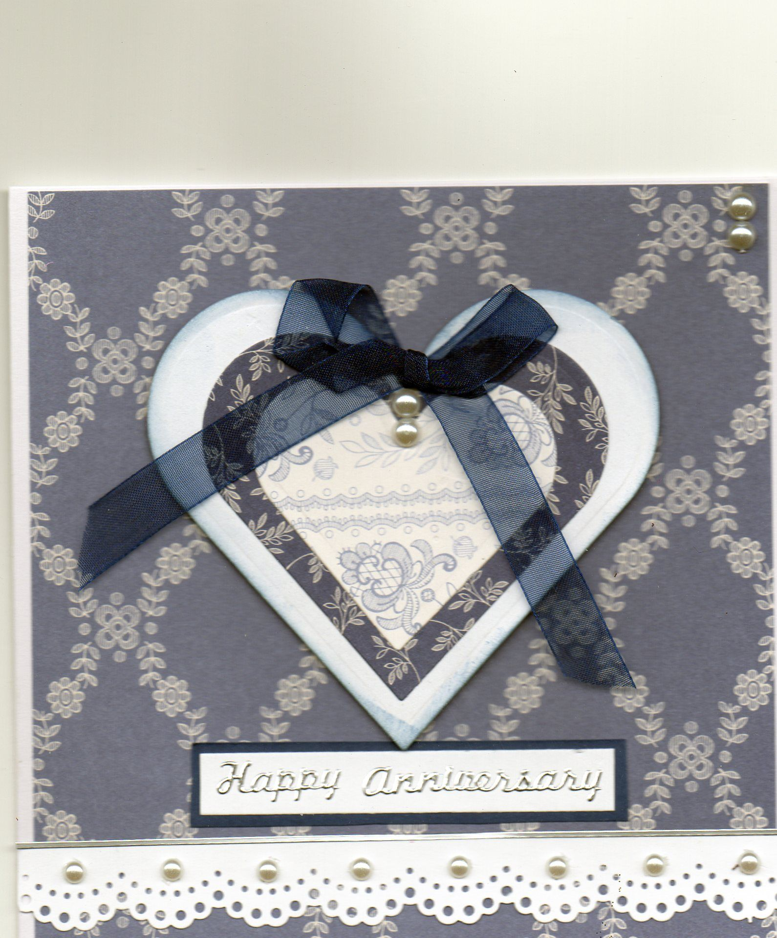 Anniversary using papermania papers