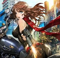 Resultado de imagen para Anime Girl Anime Motorcycle Girl