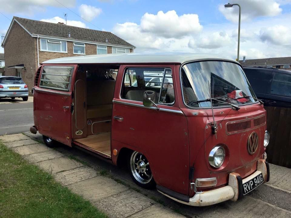 Riding low on a narrowed beam   VW's   Volkswagen bus