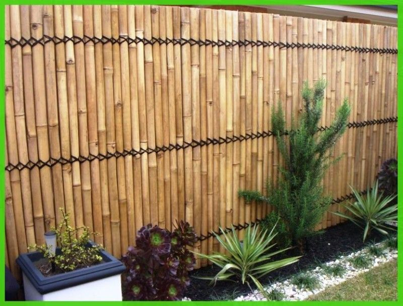 Bamboo garden fence ideas shrub flower bed ideas for Garden bed fence ideas