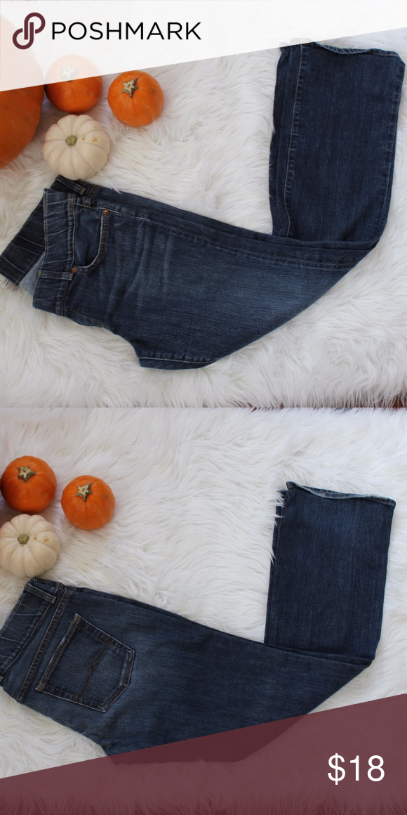 dff2bf8731993 Lucky Jeans Maternity Lucky Jeans Maternity Pants Lil Maggie Maternity  Straight leg dark wash 31' inseam stretchable waist band Lucky Brand Jeans