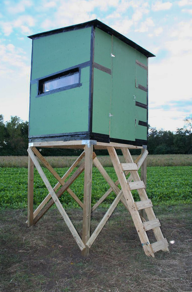 Hunting Blind With Simpson Strong Tie Connectors And