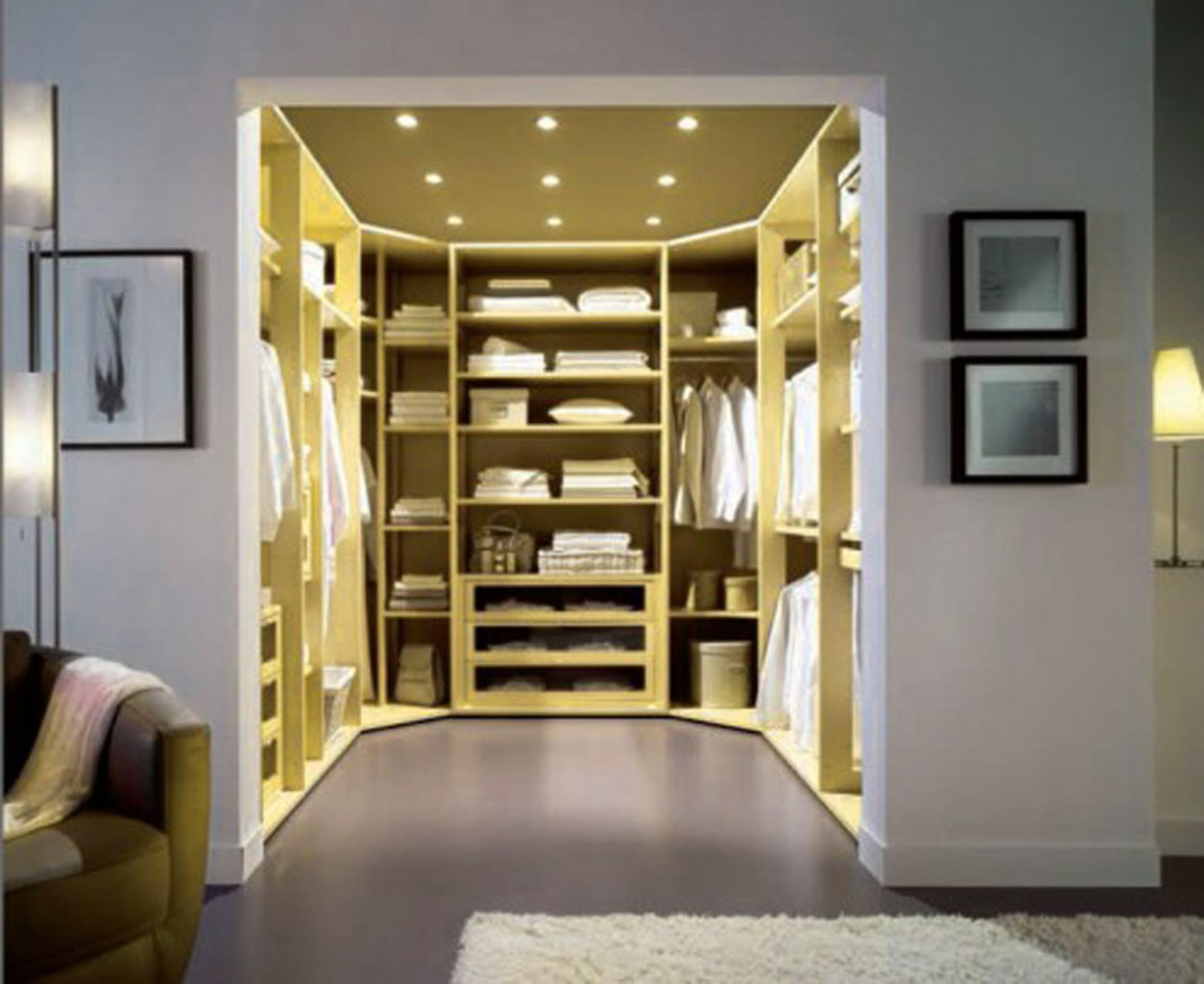 Small Bedroom Closet Design Ideas Pleasing 21 Small Walk In Closet Ideas And Organizer Designs  Bedroom Inspiration Design