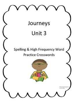 Journeys Unit 3 Word Search Spelling & High Frequency Word