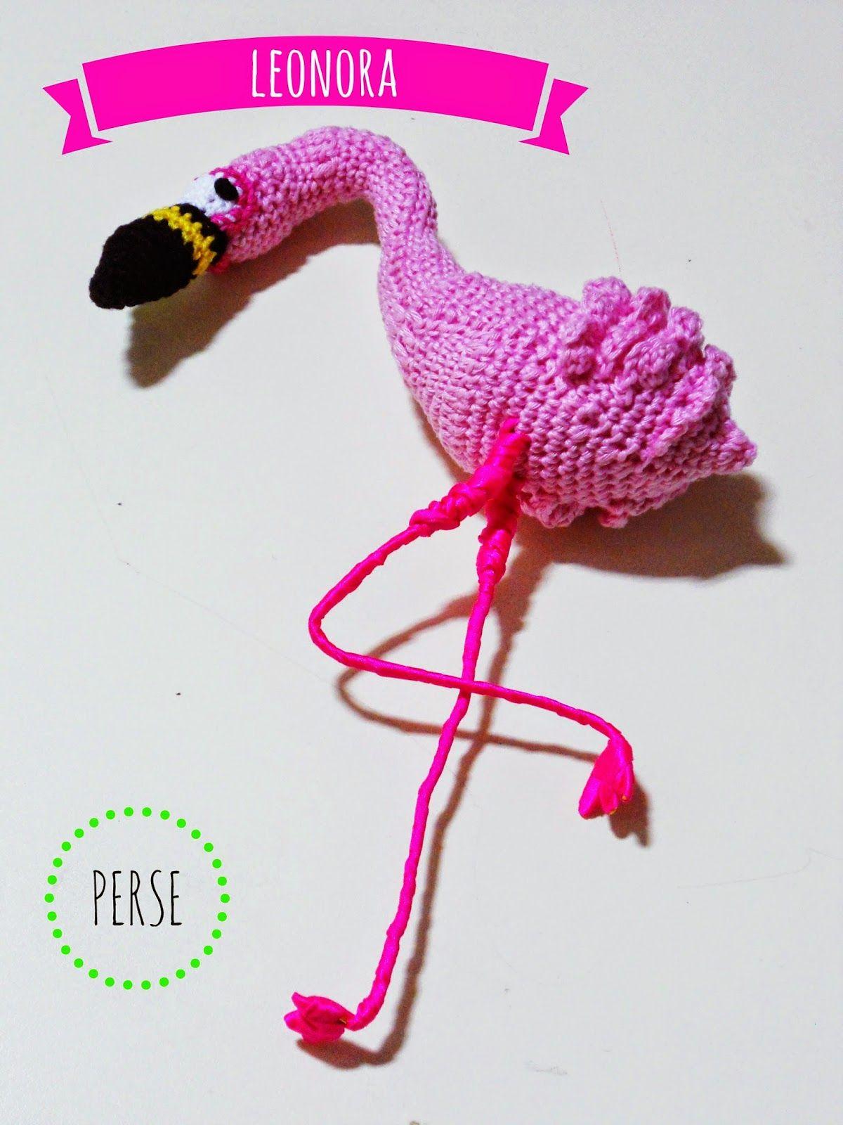 El blog de Perse: Leonora, pink flamingo amigurumi crochet patrón ...