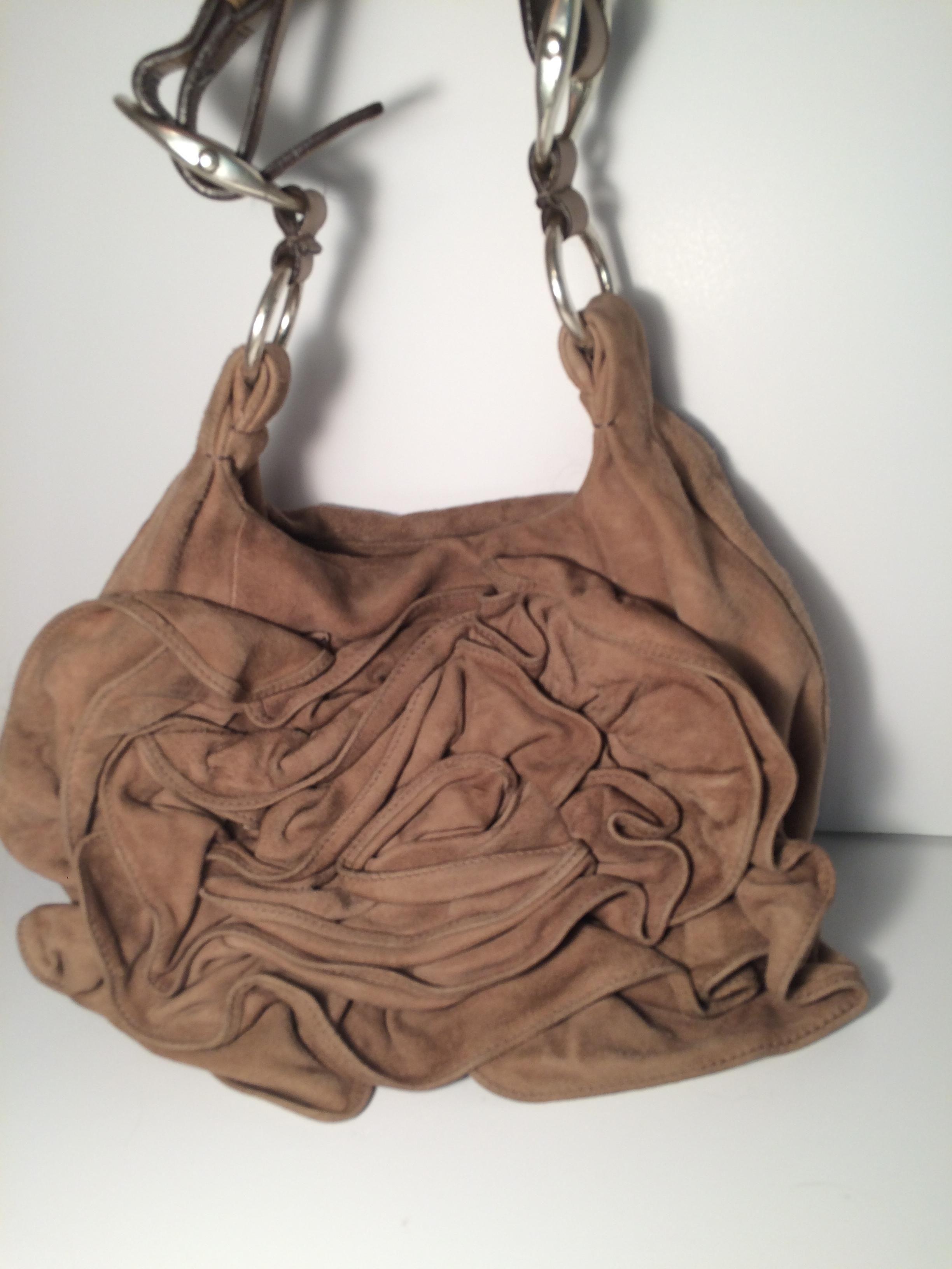 4a5890b4195 The Saint Laurent Yves Nadja Rose Flower Ysl Camel Brown Suede Shoulder Bag  is a top 10 member favorite on Tradesy.