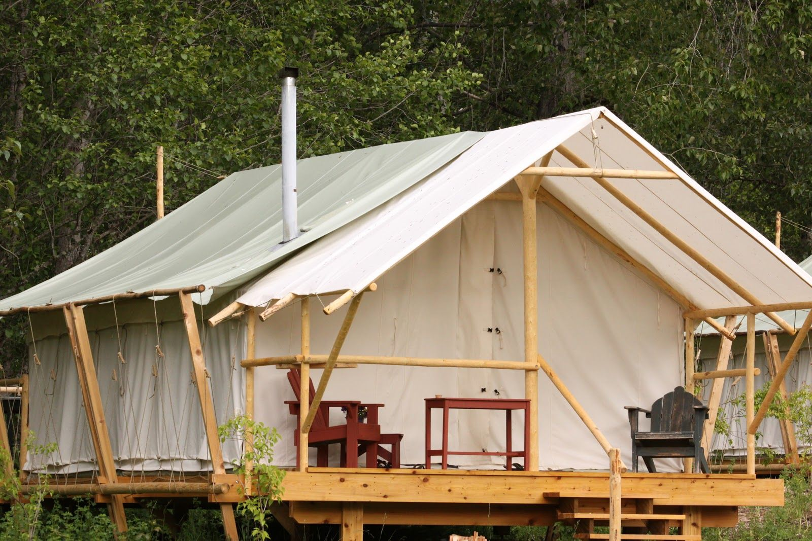 Tent living year round google search projects to try for Canvas platform tents