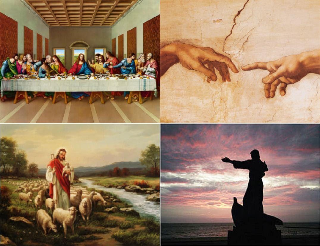 Lot Of 4 Religious Fabric Panel Quilt Squares. $4.99, via Etsy ... : religious quilting fabric - Adamdwight.com