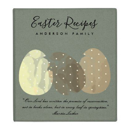 Modern zen grey watercolor easter egg recipes gift binder negle Gallery