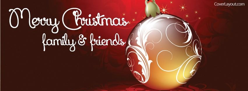 Ornaments Merry Christmas Family And Friends Facebook Cover