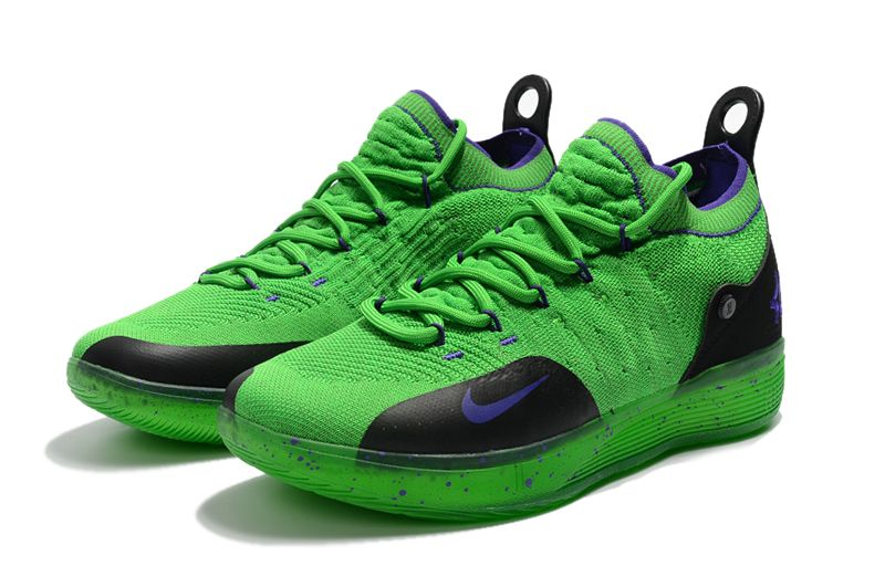 62a14b6ac39 Genuine 2018 Spring Summer nike kd 11 green black purple basketball shoes  For Sale