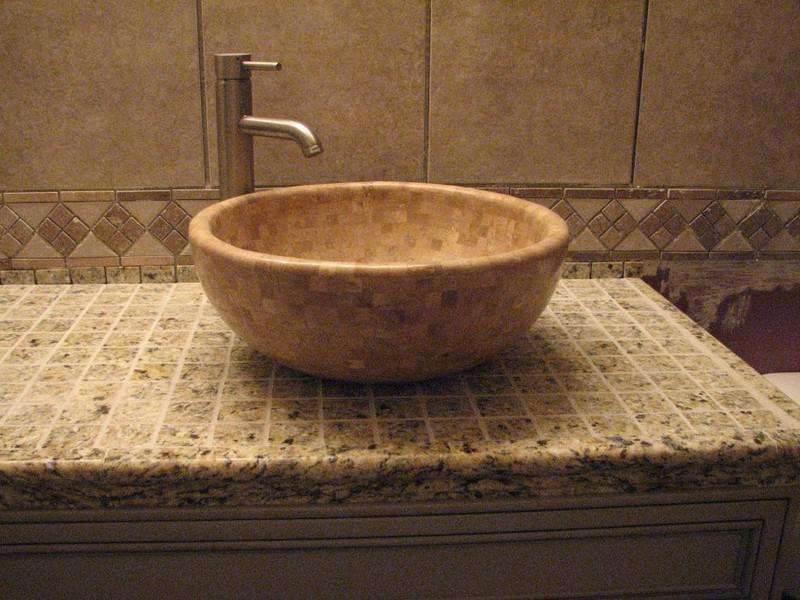 Tile Bathroom Sink Countertop