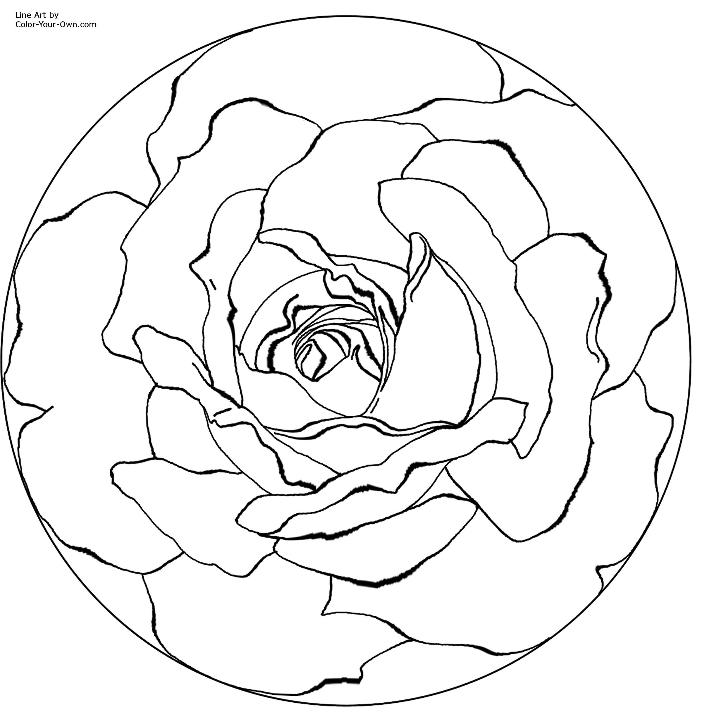 mandala coloring pages printable | mandala rose Colouring Pages ...