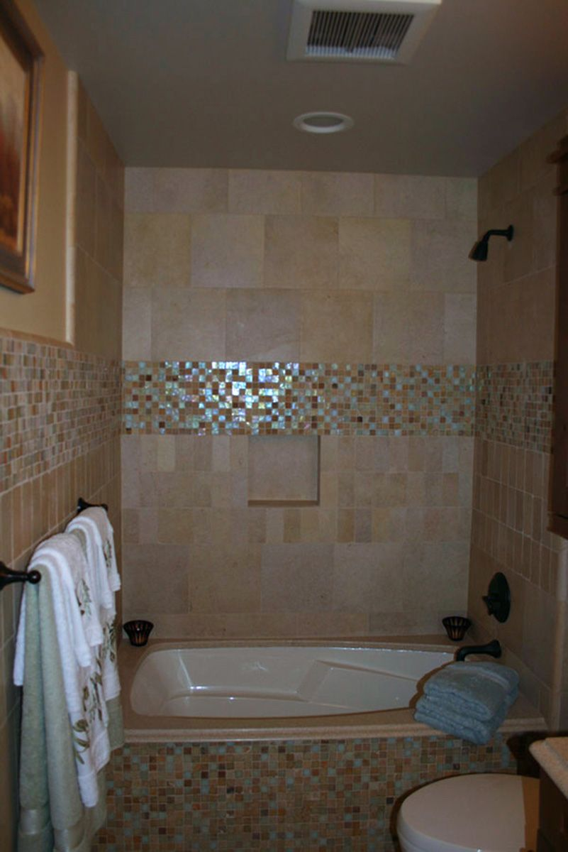Furniture interior bathroom bathroom glass tile ideas for Bathroom tub tile design ideas