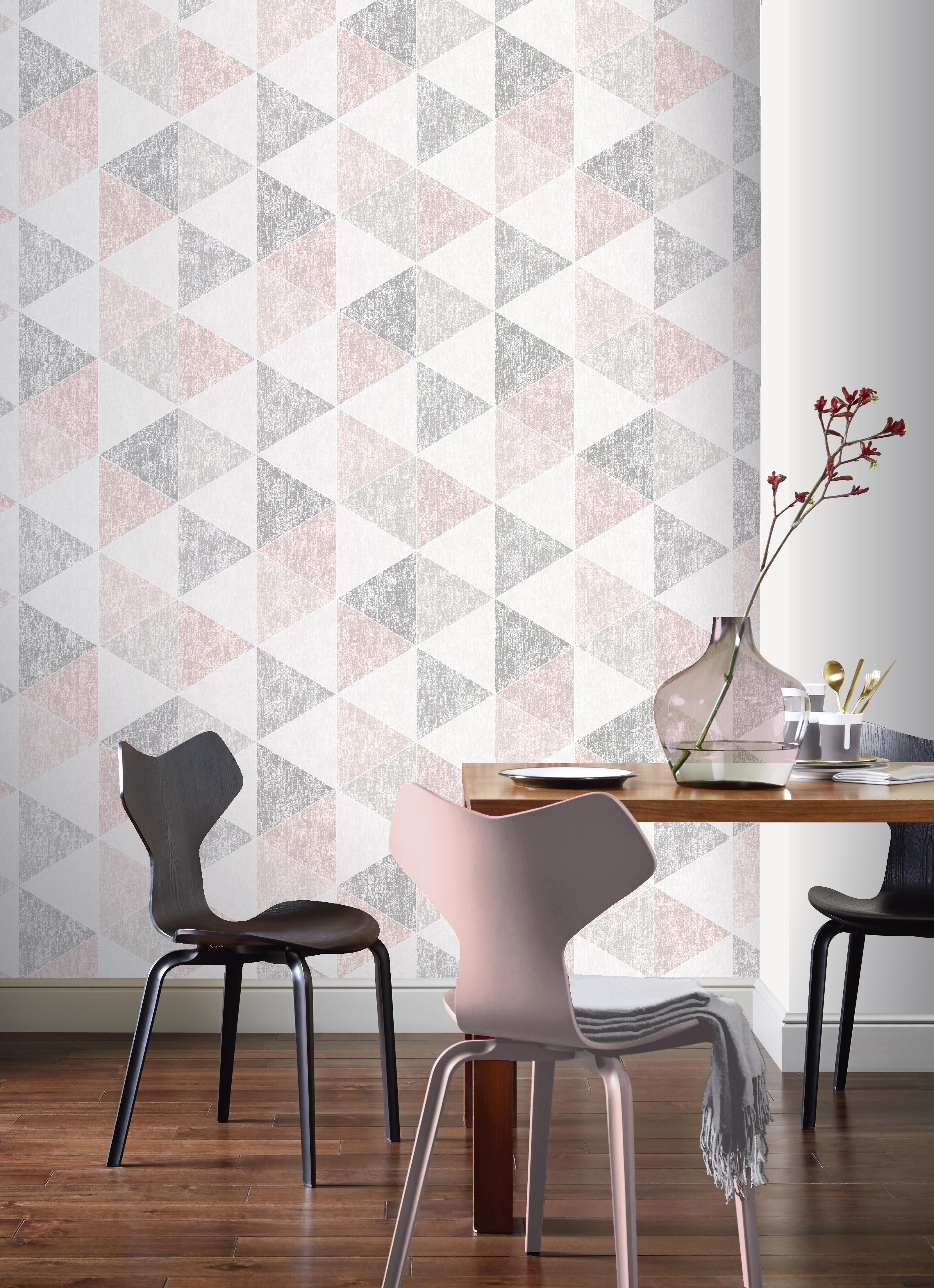 scandi triangle pink in 2018 retro house pinterest wallpaper rh pinterest com