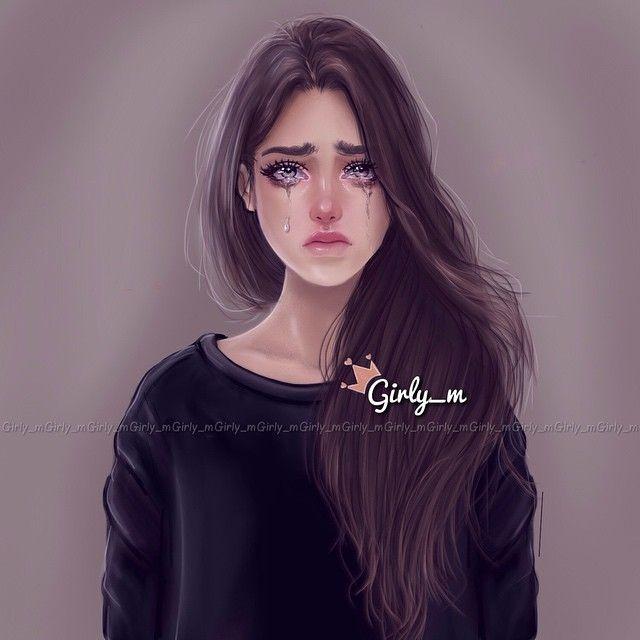 رسومات بنات حزينه Girly M Crying Girl Crying Girl Drawing
