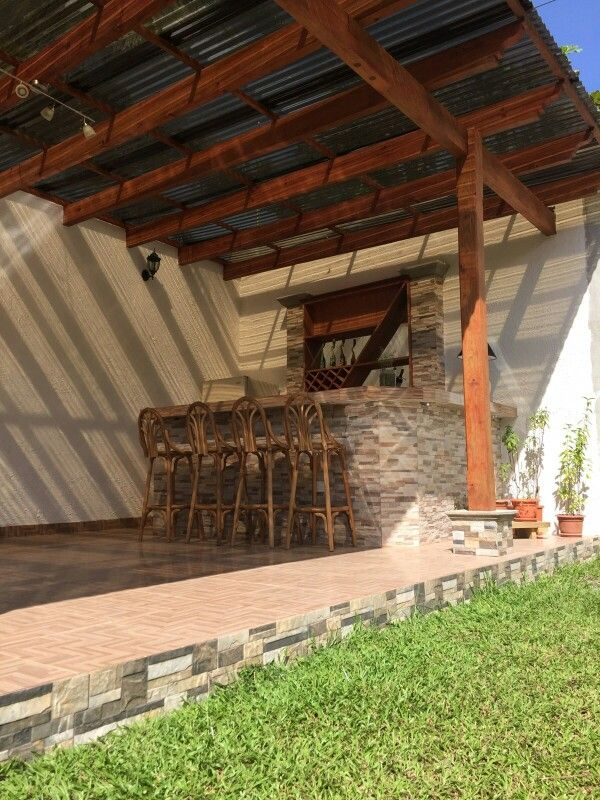 Techo de lamina de policarbonato para pergola casademar Fotos de techos para patios