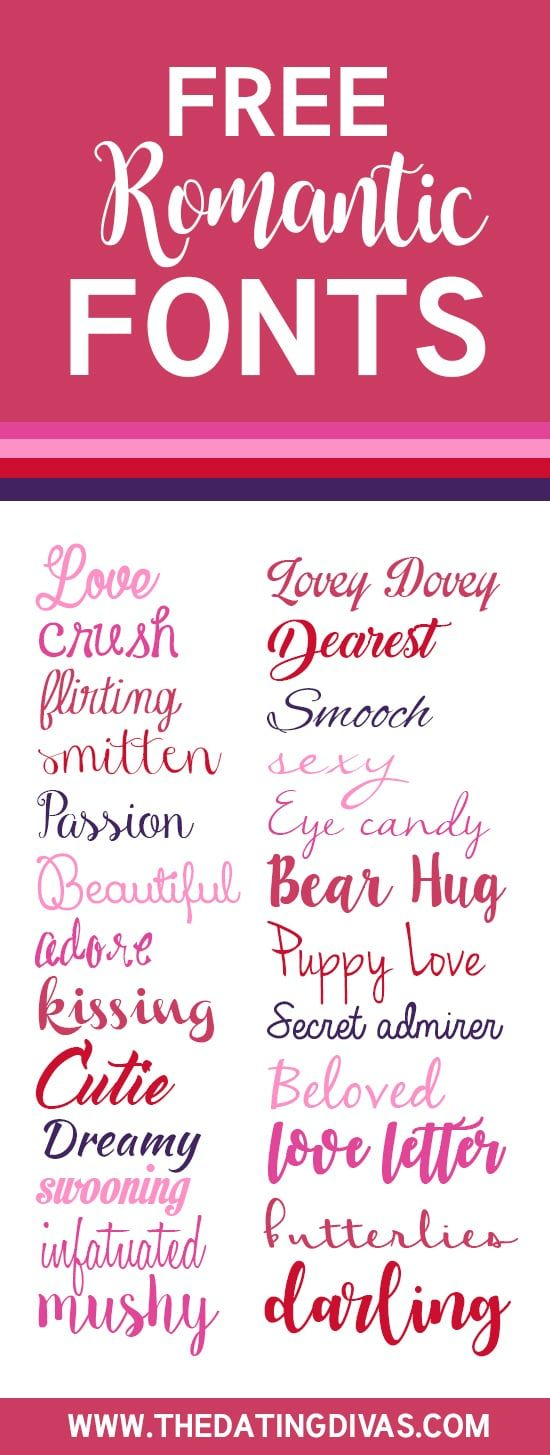 the dating divas free fonts