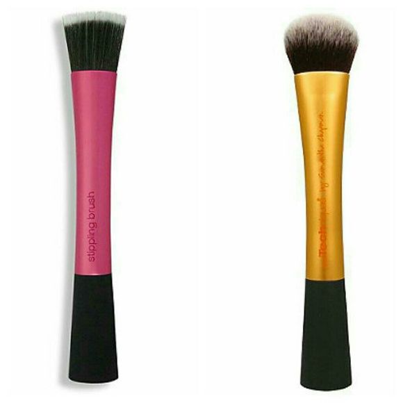 Real Techniques brush duo Stippling brush & Expert face brush Real Techniques Makeup Brushes & Tools