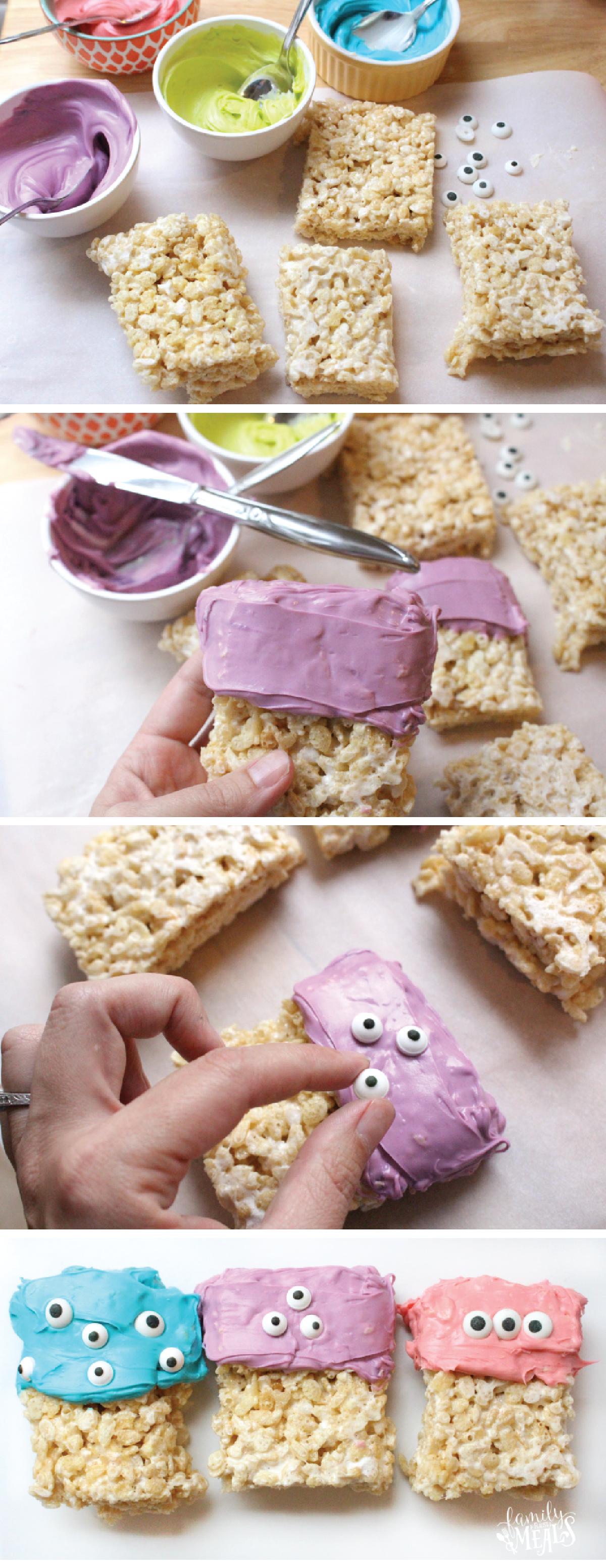 Easy Halloween Monster Rice Krispie Treats | Recipe | Rice ...