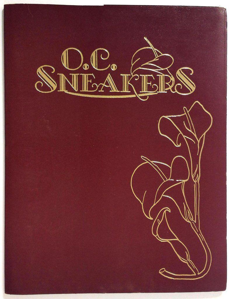 1990s original vintage menu oc sneakers restaurant