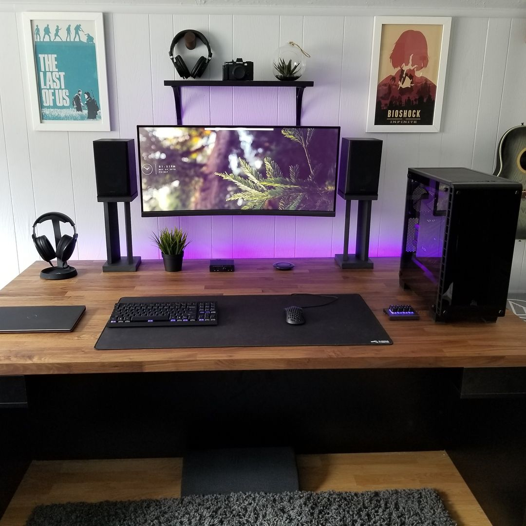 Rate This Setup 1 10 U Azyv Computer Desk Setup Gaming Room Setup Game Room Design