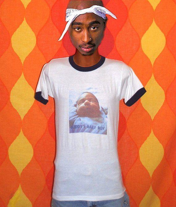 427af59c vintage 70s t-shirt DADDYS baby boy photo print ringer tee Medium 80s  father dad