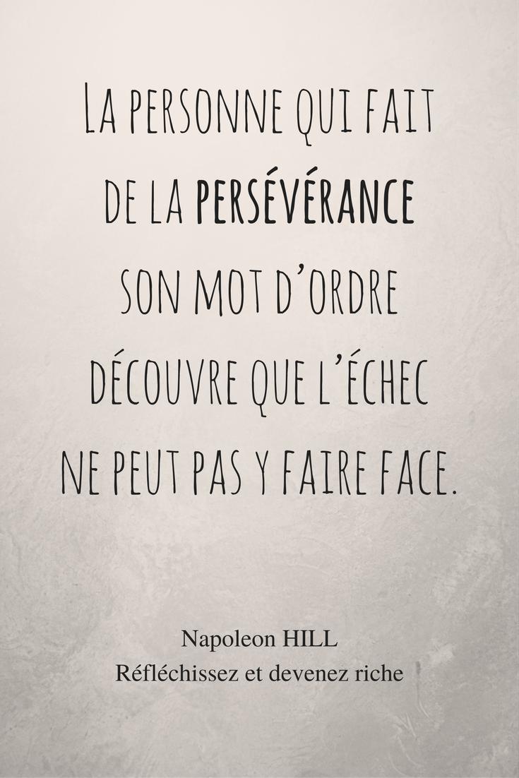 Reflechissez Et Devenez Riche Napoleon Hill Citation