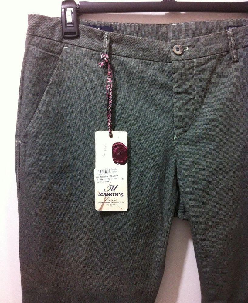 NWT395 Mason's Em's Italian beautiful casual pants 52/36W